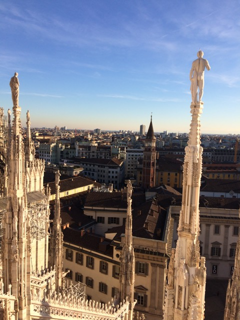view from doumo in milan